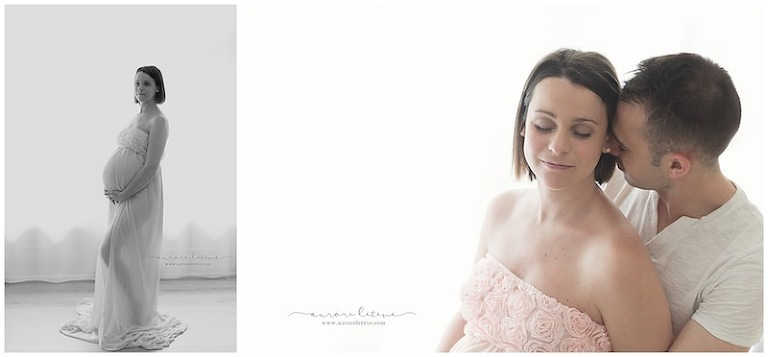 Shooting photo femme enceinte en couple